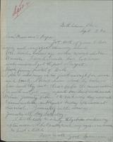 Letter from Spencer Mussey to General and Mrs. R.D. Mussey, September 3, 1890