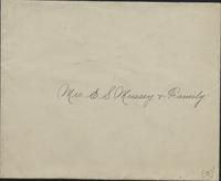 Commencement invitation from Lehigh University to Mrs. E.S. Mussey and family, 1894